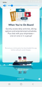 App Disney Cruise Line - Screenshot